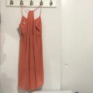 Forever 21 Dresses - Peach Spaghetti Strap High Low Dress